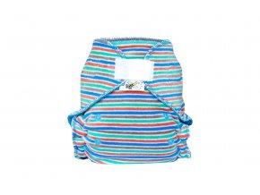 Kalhotková plenka velur Pruhy pastelové suchý zip