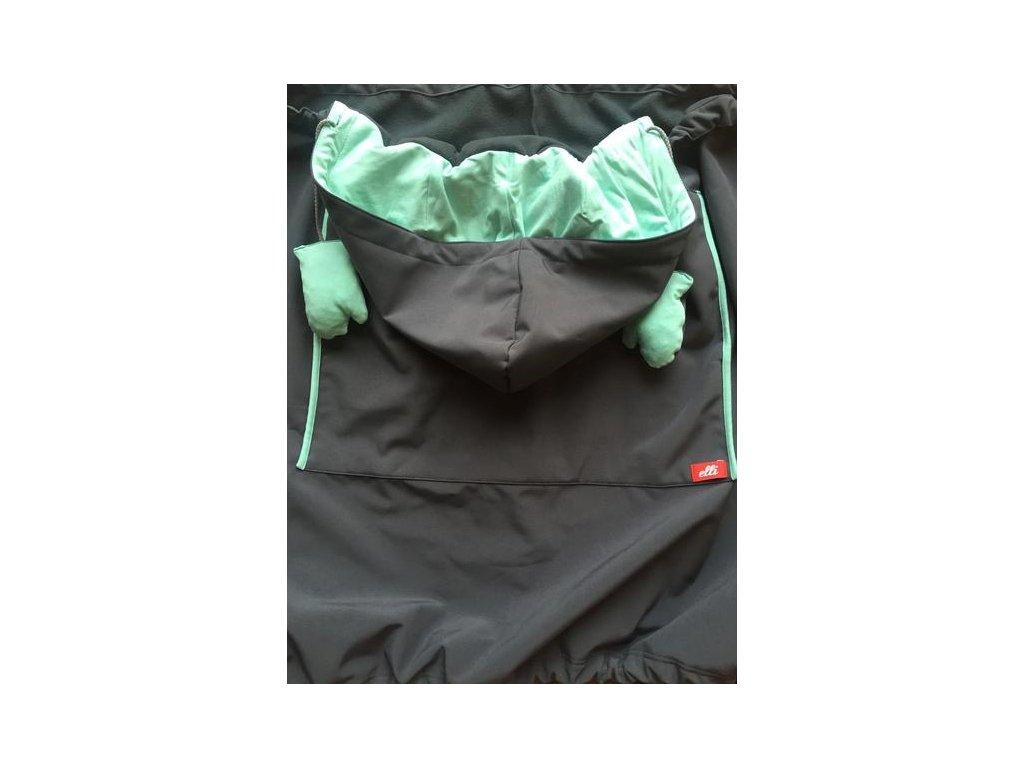 Ochranná kapsa na nosítko Elli Trage Tunel, grey aquamarine