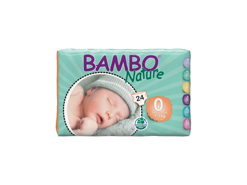Bambo Nature 0 Premature, 24ks, pro 1-3 kg, Abena