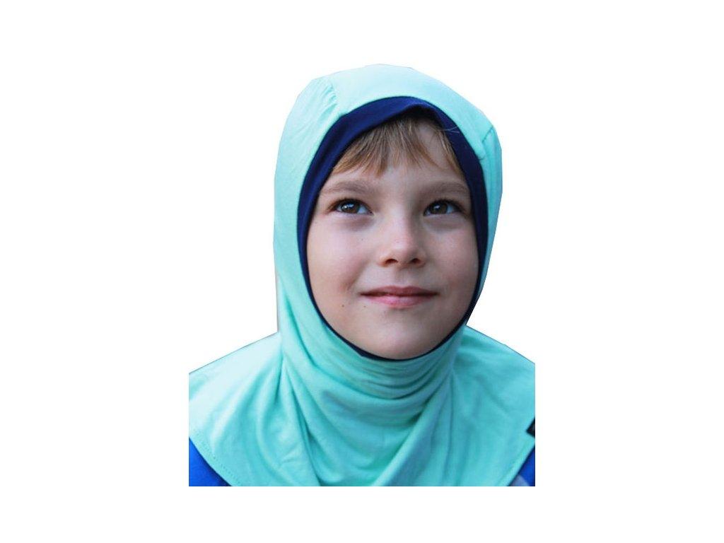 Bambusová dětská kukla, tmavě modrá - tyrkysová | Adelay