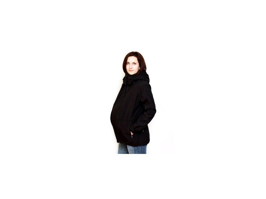 Těhotenský díl do černé bundy | Adelay