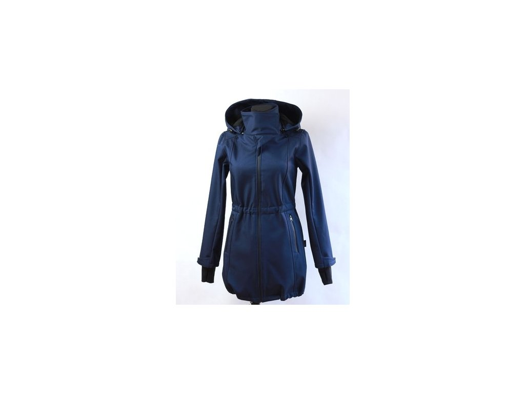 Softshellový nosící a těhotenský kabát 3v1, tmavě modrý | Adelay