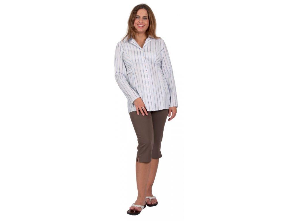 Těhotenské 3/4 kalhoty Rialto Inor hnědé 0189 Dámská velikost: 38