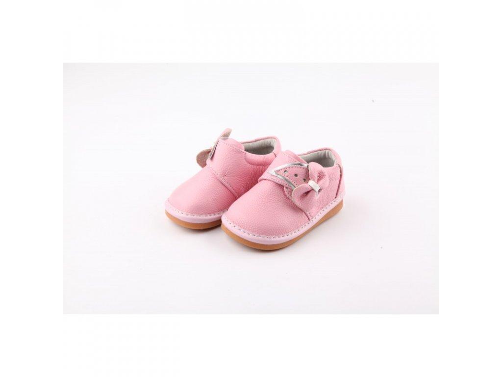 Freycoo kožené polobotky - Eva pink
