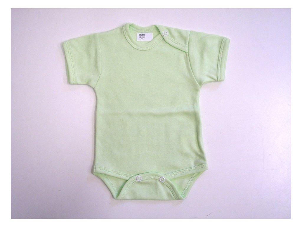 Body bavlněné krátký rukáv světle zelené - Charita Strážnice
