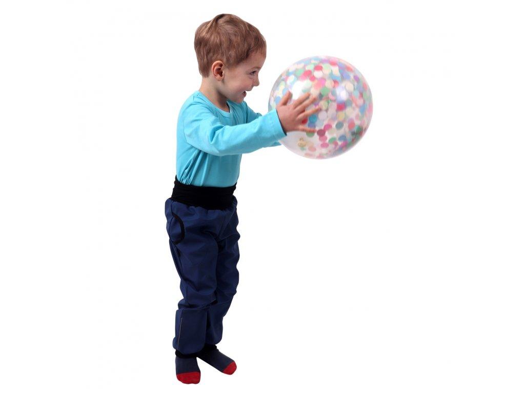 Jarní/letní dětské softshellové kalhoty, modré