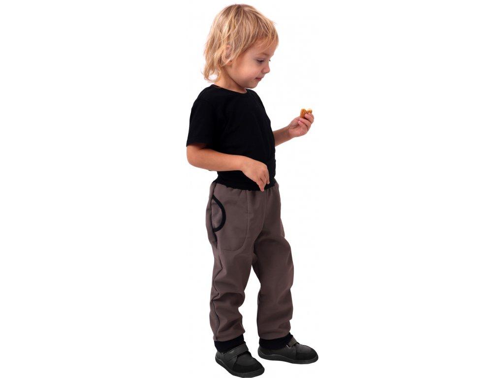 JOŽÁNEK Dětské softshellové kalhoty, béžové, vel. , Kolekce 2021