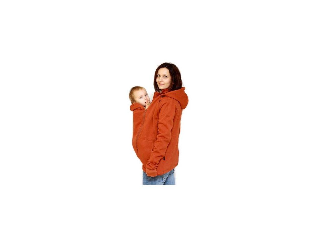 Těhotenská a nosící bavlněná mikina 6v1, rezavá   Adelay