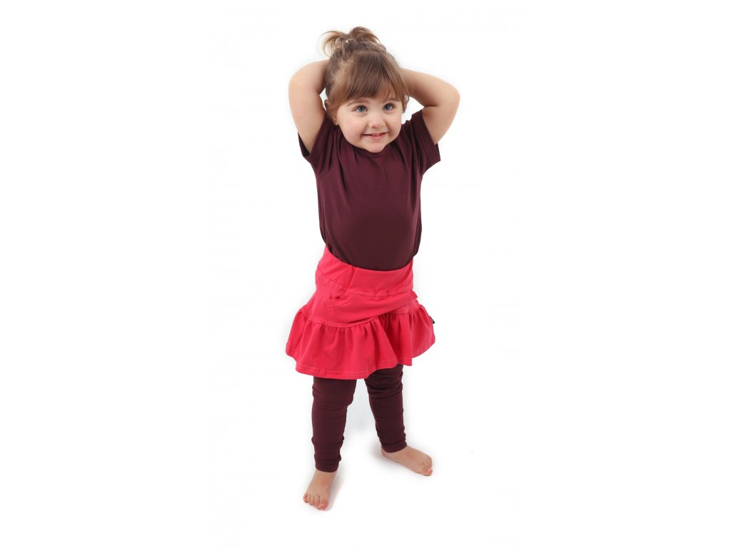 Dívčí (dětská) sukně,  LOSOSOVĚ RŮŽOVÁ, velikost