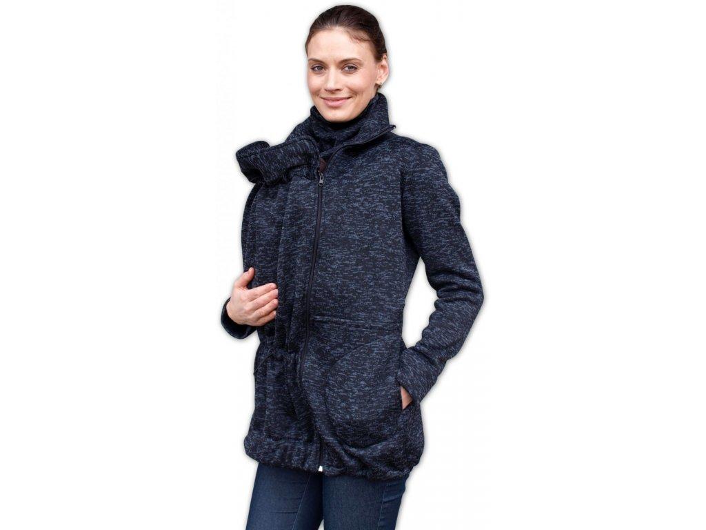 Nosící svetr Radka (přední/zadní nošení), černý