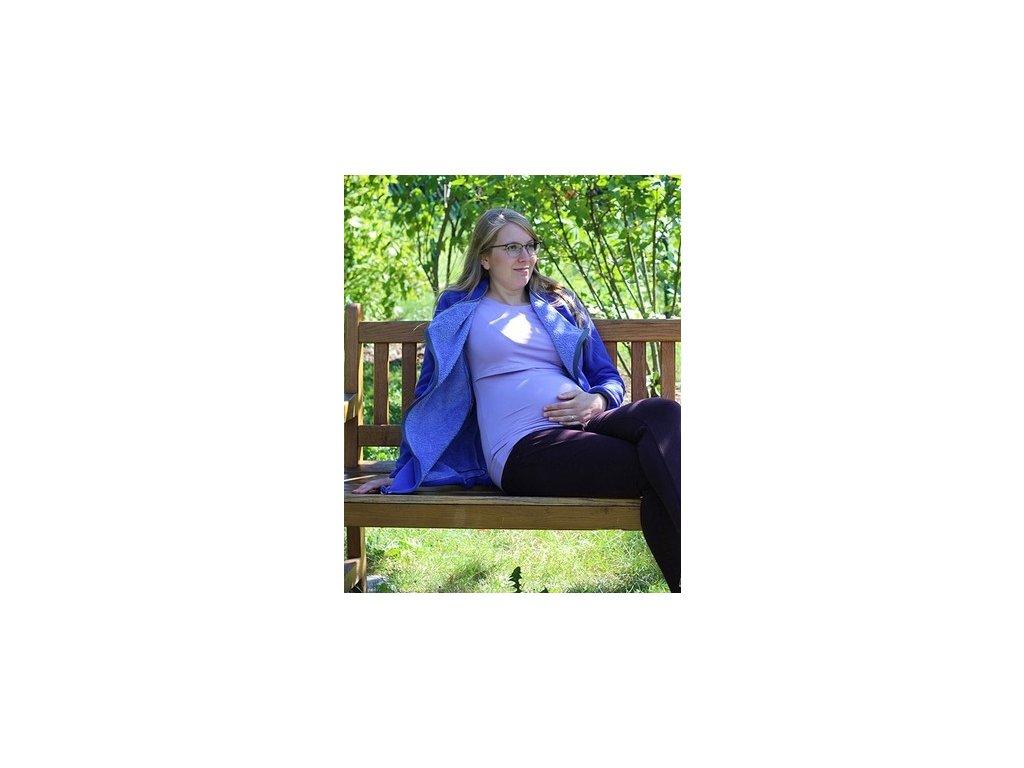 Těhotenská a nosící mikina s beránkem 3v1, modrá | Adelay