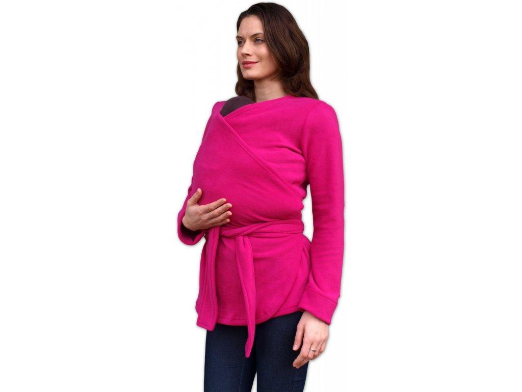 těhotenský a nosící zavinovací fleecový kabátek
