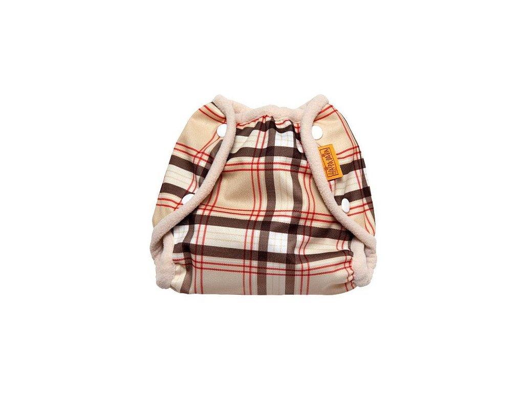Nepromkovavé svrchní kalhotky na látkové pleny PUL, retro kárované S 3-7kg