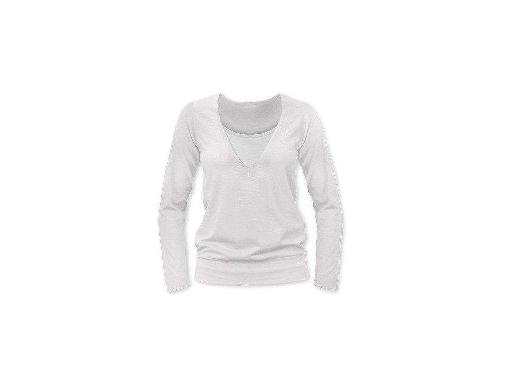 Kojící tričko KARLA, dlouhý rukáv, smetanová