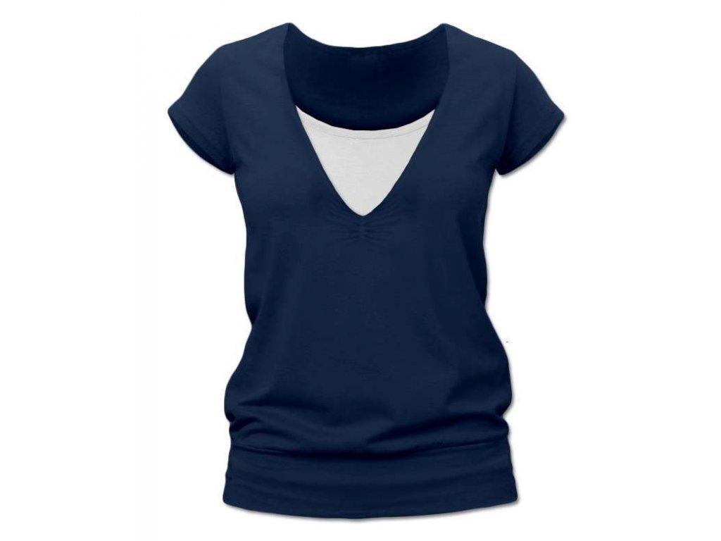 Kojící tričko KARLA, krátký rukáv, tmavě modrá (jeans)