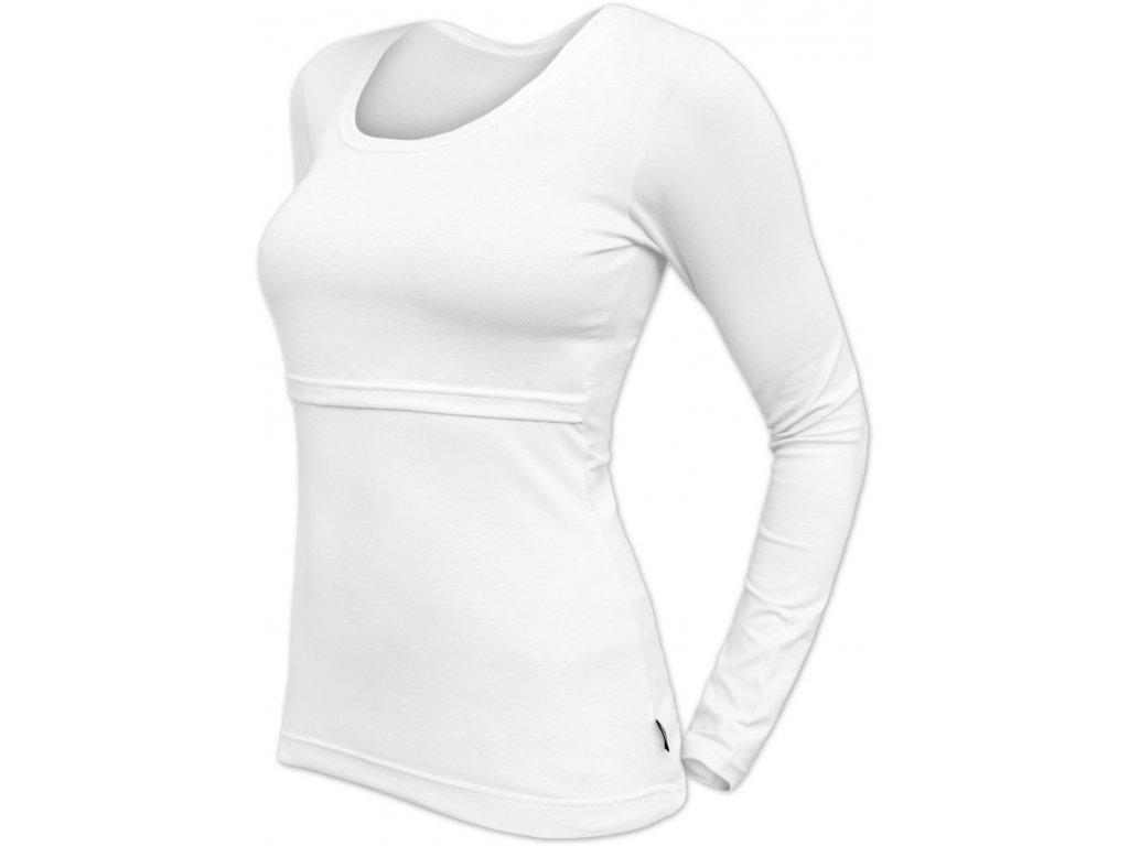 Kojicí tričko Kateřina, dlouhý rukáv, bílé,