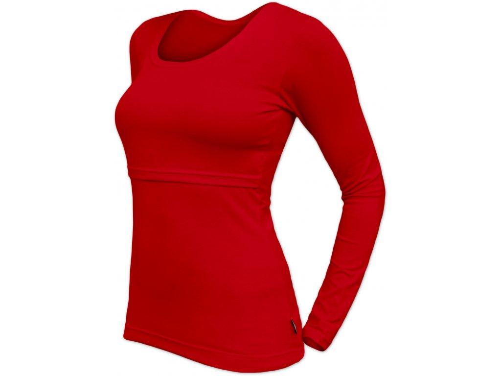 Kojicí tričko Kateřina, dlouhý rukáv, červené,