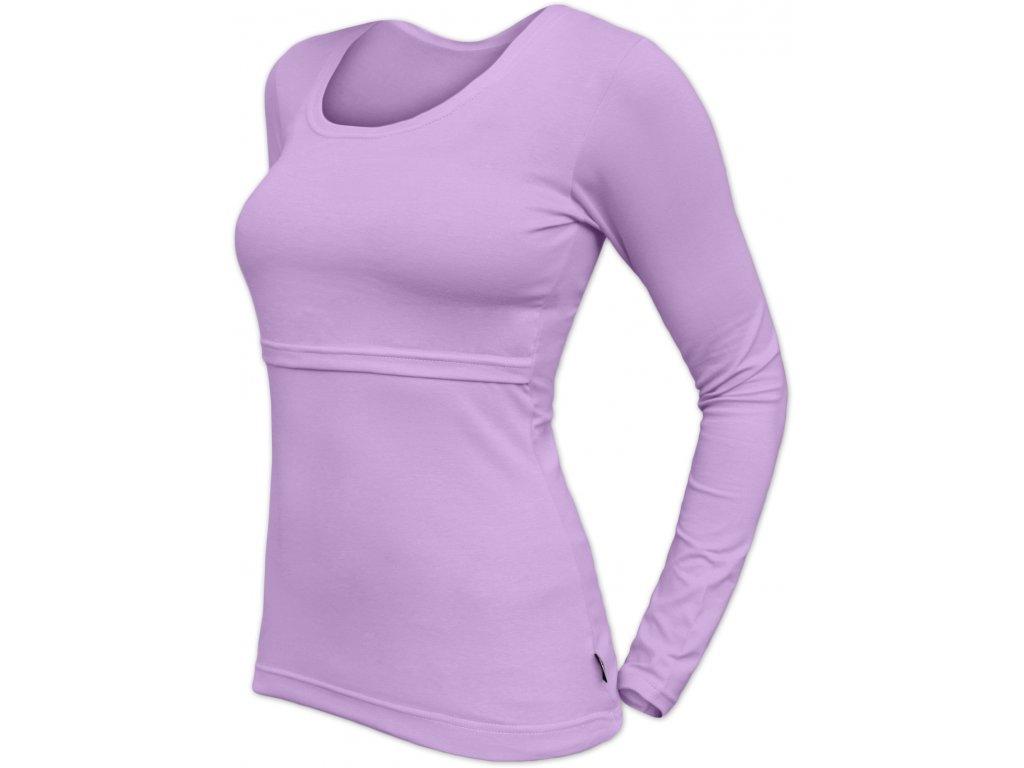 Kojicí tričko Kateřina, dlouhý rukáv, levandulové (světle fialové),
