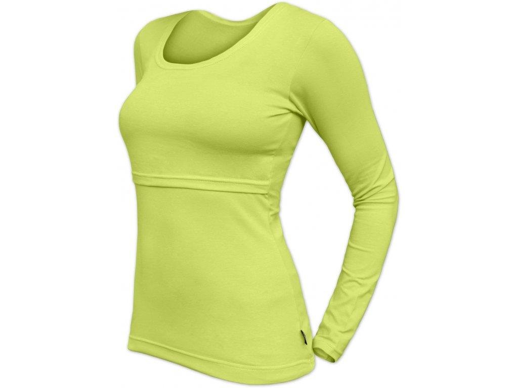 Kojicí tričkoKateřina, dlouhý rukáv, světle zelené,