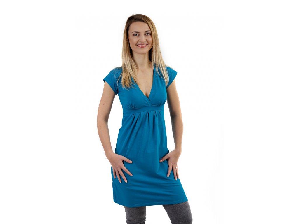 Těhotenské šaty ŠARLOTA, TM. TYRKYS