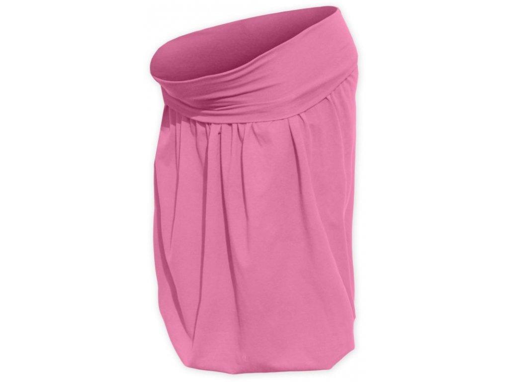 Těhotenská sukně balonová Sabina, růžová