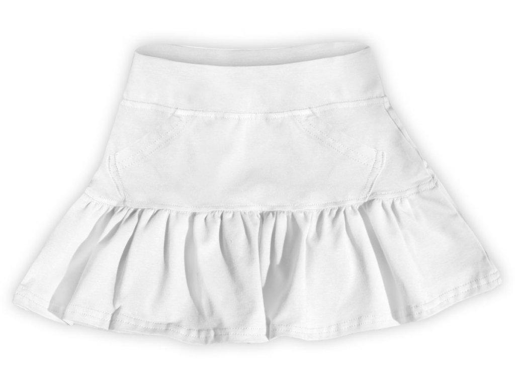 Dívčí (dětská) sukně,  BÍLÁ, velikost