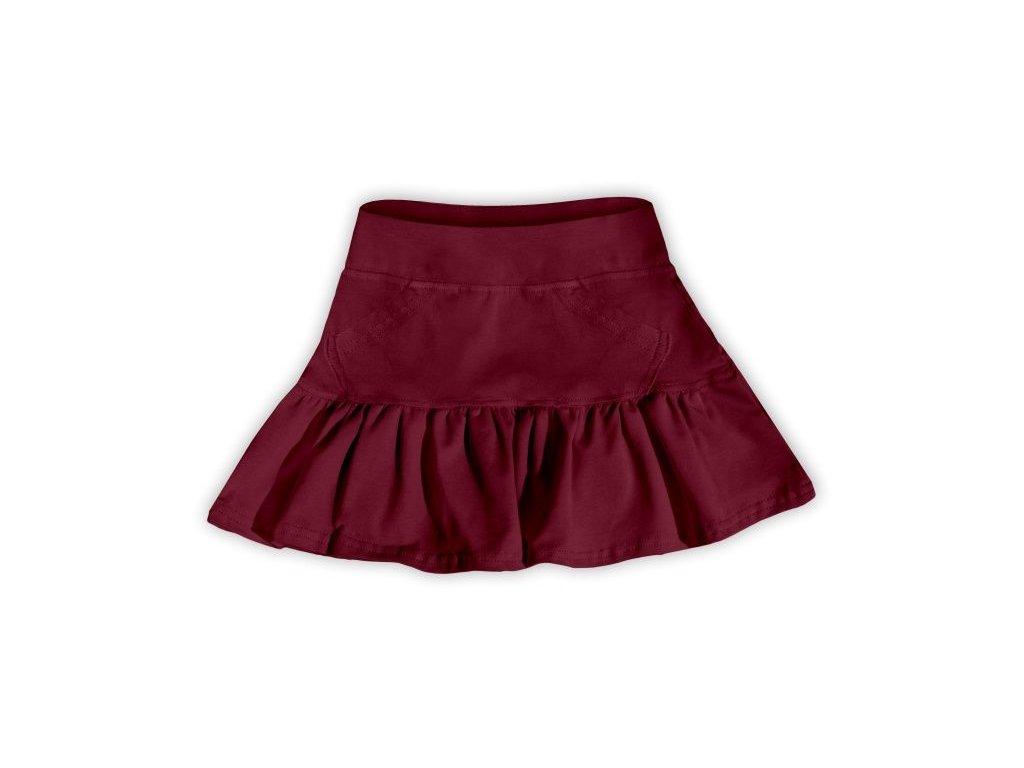 Dívčí (dětská) sukně,  BORDO (vínová), velikost