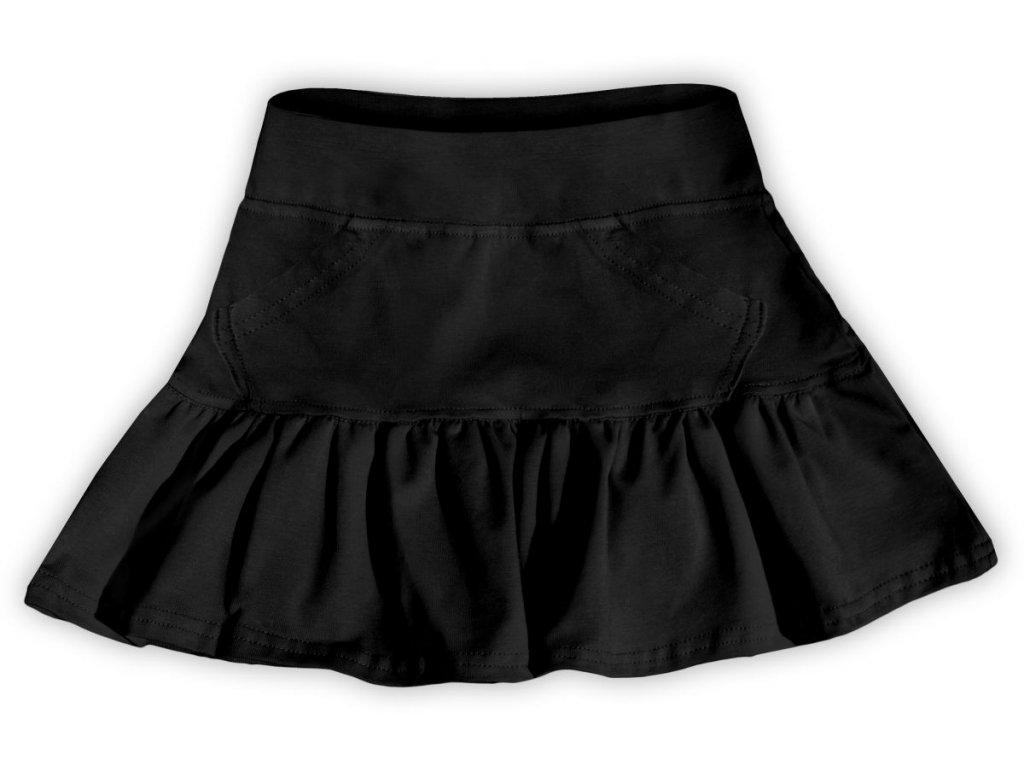 Dívčí (dětská) sukně,  ČERNÁ, velikost