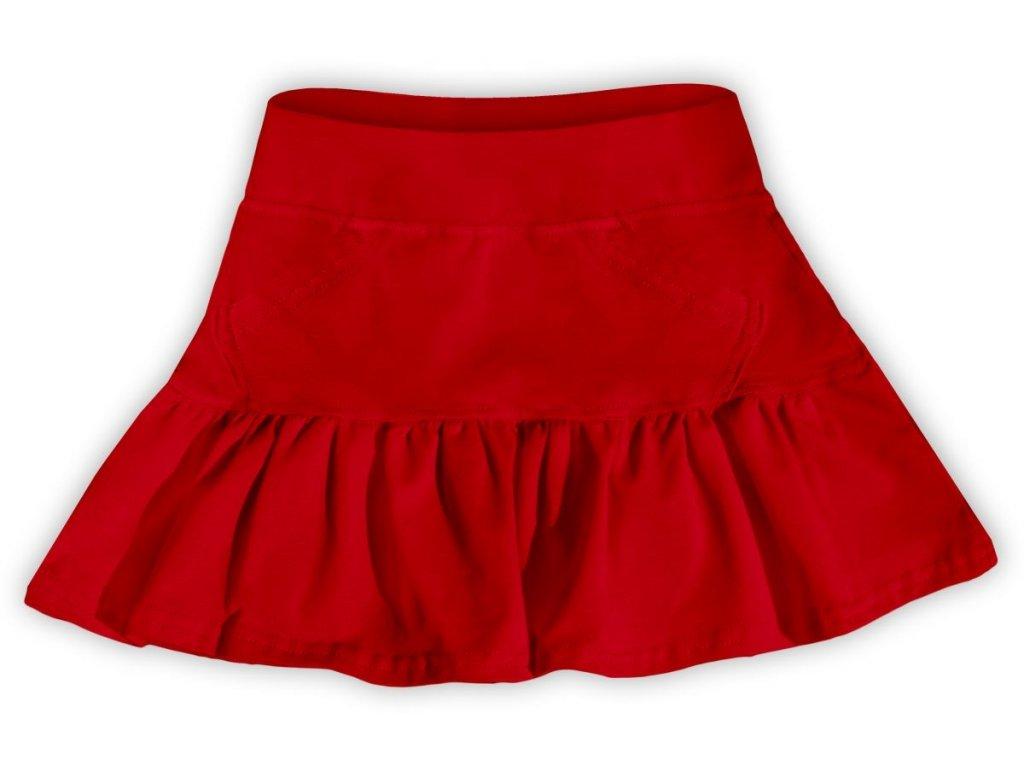 Dívčí (dětská) sukně,  ČERVENÁ, velikost