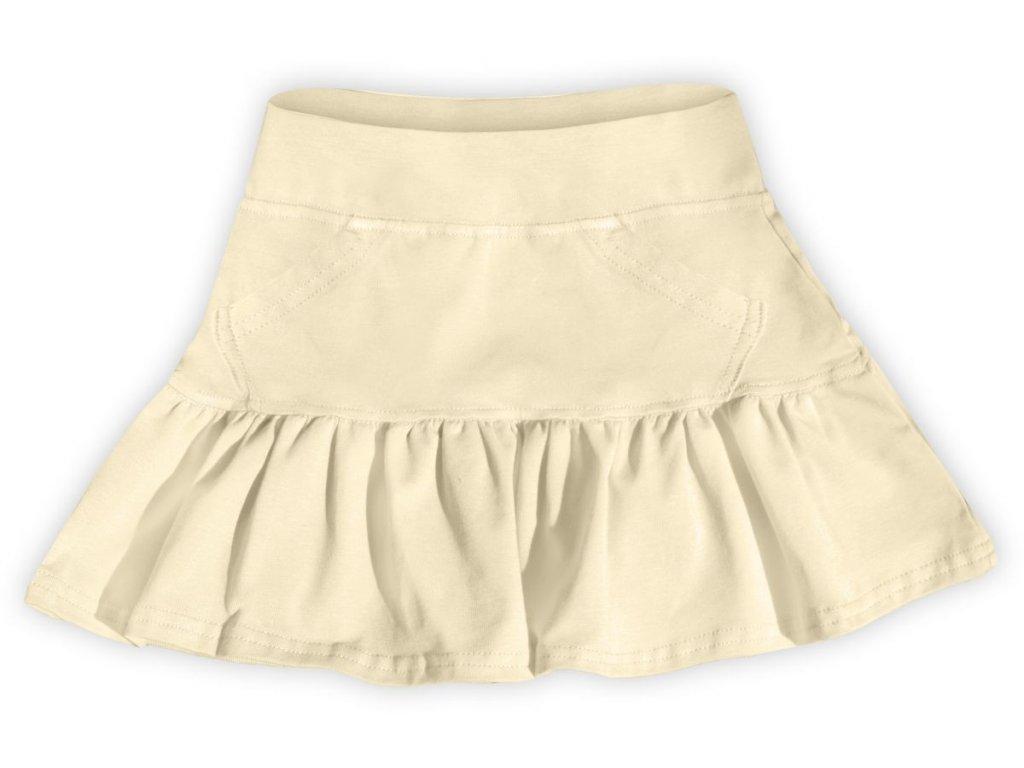 Dívčí (dětská) sukně,  CAFFE LATTE (BÉŽOVÁ), velikost