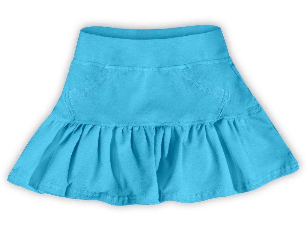 Dívčí (dětská) sukně,  TYRKYSOVÁ, velikost