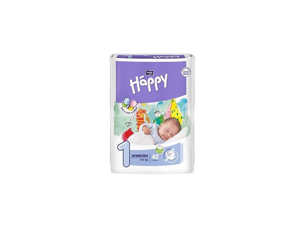 Jednorázové pleny Bella Happy Baby, 1 newborn s výkrojem na pupík, 42 ks