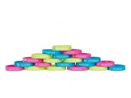 Náramek na Zdravá lahev® - žlutý, růžový nebo modrý