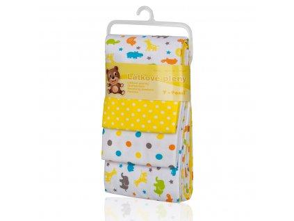 Látkové pleny, yellow giraffe / žluté žirafy