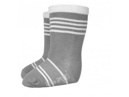 Little Angel Ponožky STYL ANGEL - Outlast® - tm.šedá/bílá