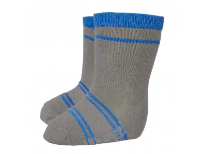 Little Angel Ponožky STYL ANGEL - Outlast® - tm.šedá/modrá