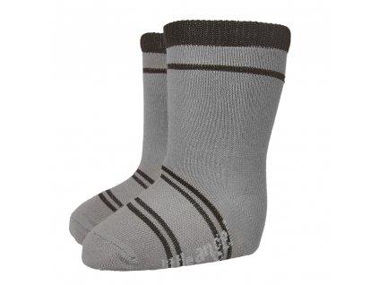 Little Angel Ponožky STYL ANGEL - Outlast® - tm.šedá/černá