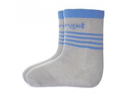 Little Angel Ponožky tenké protiskluz Outlast® - tm.šedá/modrá