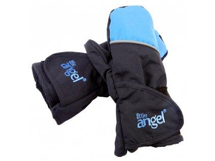 Little Angel Rukavice s palcem Outlast® - černá/modrá