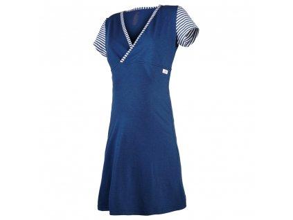 Little Angel Noční košile tenká Outlast® - pruh tm.modrý