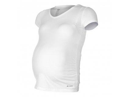 Little Angel Tričko těhotenské KR tenké Outlast® - bílá