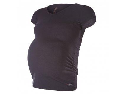Little Angel Tričko těhotenské KR tenké Outlast® - černá