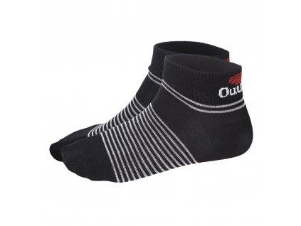 Little Angel Ponožky nízké Outlast® - černá/pruh šedý