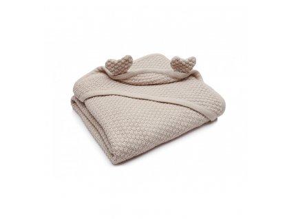 Bavlněná pletená dětská deka s ušima