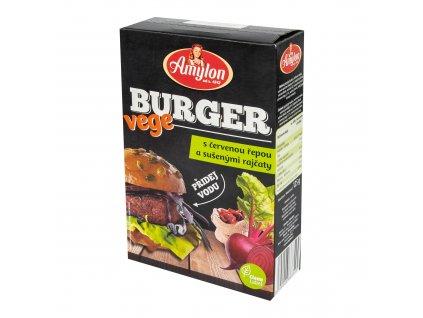 Vege burger s červenou řepou a sušenými rajčaty 125 g   AMYLON