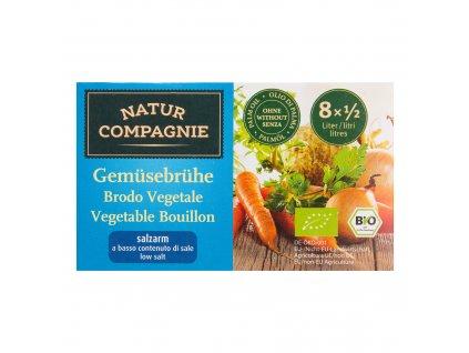 Bujon zeleninový kostky s nízkým obsahem soli 68g BIO   NATURCOMPAGNIE