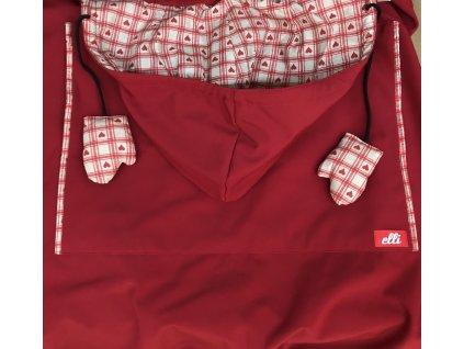 Ochranná kapsa na nosítko Elli Trage Tunel, black red hot