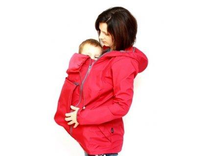 Softshellová těhotenská a nosící větrovka 3v1, malinová | Adelay
