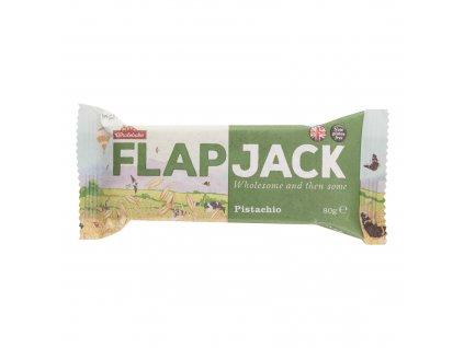 Flapjack ovesný pistácie bezlepkový 80 g   WHOLEBAKE