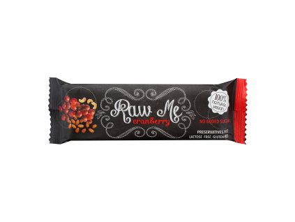 Tyčinka ovocná s příchutí brusinky 45g   RAWME